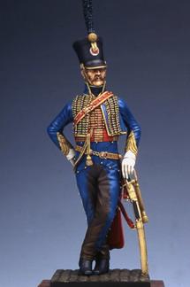 Capitaine de hussards 1810 - 1814 (90mm Métal Modèles) Mpmm9002